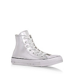 Converse - Silver 'Ct chrome hi' hi top lace up sneaker