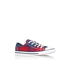 Converse - Red 'Ct dainty plaid low' flat lace up sneaker