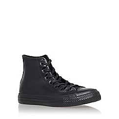 Converse - Black 'Ct pat leather hi high top lace up sneakers