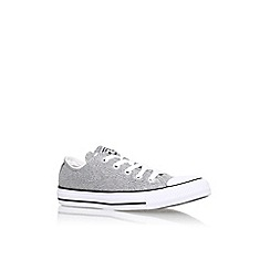 Converse - Silver 'Ct sparkleknit low' flat lace up sneaker