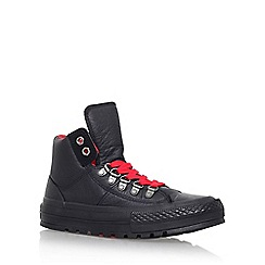Converse - Black 'Ct street hiker hi' flat lace up high top sneaker