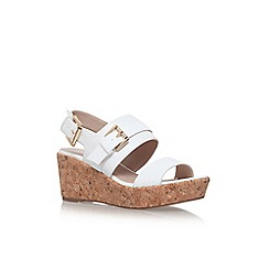 Carvela - White 'Samson' high wedge heel sandals