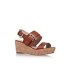 Carvela - Brown 'Samson' high wedge heel sandals