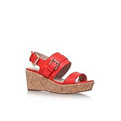 Carvela - Red 'Samson' high wedge heel sandals