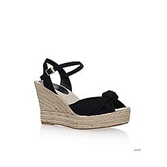 Carvela - Black 'Sabb' high heel wedge sandal