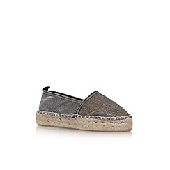 Carvela - Metallic 'Super' slip on espadrilles