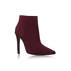 Carvela - Red 'Sand' high heel zip up ankle boot
