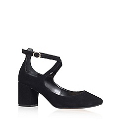 Carvela - Black 'Attract' buckle up court shoe