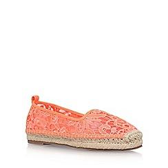 KG Kurt Geiger - Orange 'Mimosa' flat espadrille sneakers
