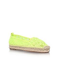 KG Kurt Geiger - Yellow 'Mimosa' flat espadrille sneakers