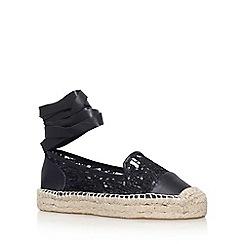 KG Kurt Geiger - Black 'Matilda' flat sandals