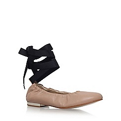 KG Kurt Geiger - Natural 'Kitty' low heel ballerina shoe
