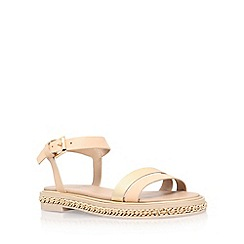 KG Kurt Geiger - Natural 'Minny' flat sandals