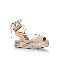 KG Kurt Geiger - Natural 'Marlo' platform lace up sandals