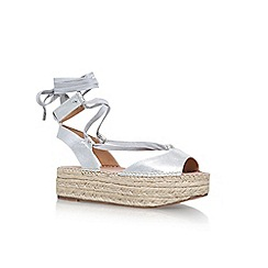 KG Kurt Geiger - Silver 'Marlo' platform lace up sandals