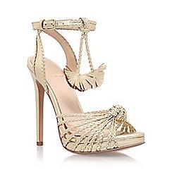 KG Kurt Geiger - Gold 'Hoax' high heel sandal