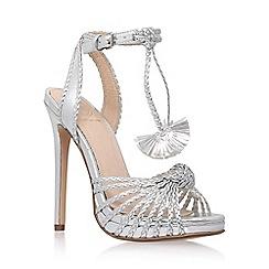 KG Kurt Geiger - Silver 'Hoax' high heel sandals