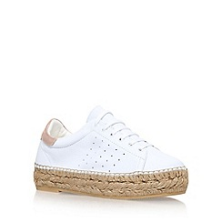 KG Kurt Geiger - White 'Lovebug' low heel lace up sneakers
