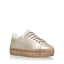 KG Kurt Geiger - Cream 'Lovebug' low heel lace up sneakers