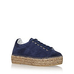 KG Kurt Geiger - Blue 'Lovebug' mid heel lace up sneakers