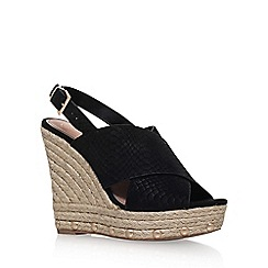 KG Kurt Geiger - Black 'March' high wedge heel sandal