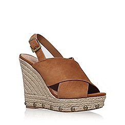 KG Kurt Geiger - Brown 'March' sling back wedge