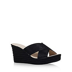 Carvela Comfort - Black 'Sabrina' high heel wedge sandals