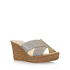 Carvela Comfort - Grey 'Sabrina' high heel wedge sandals