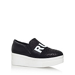 KG Kurt Geiger - Black 'lover' mid heel slip on sneaker