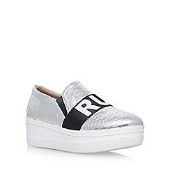 KG Kurt Geiger - Silver 'Lover' mid heel slip on sneakers