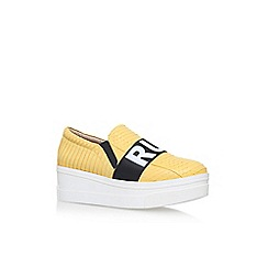 KG Kurt Geiger - Yellow 'Lover' Low Heel Slip On Sneakers