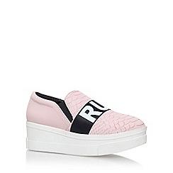 KG Kurt Geiger - Pink 'lover' mid heel slip on sneaker