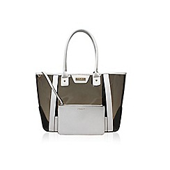 Carvela - White 'Layla Perspex Shopper' handbag with shoulder strap