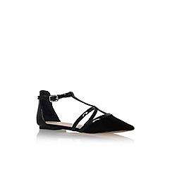 Carvela - Black 'mixx' flat pointy toe sandal