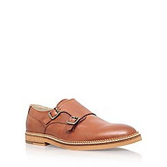 KG Kurt Geiger - Brown 'Sparrow' double monk buckle shoe