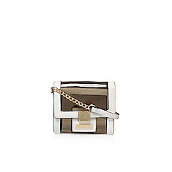 Carvela - White 'Liz' X Body Perspex handbag with shoulder strap