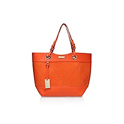 Carvela - Orange 'Lucinda' Weaved Shopper handbag with shoulder strap