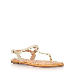 Miss KG - Gold 'Riva' low heel sandal