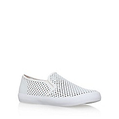 Miss KG - White 'Laila' flat slip on sneakers