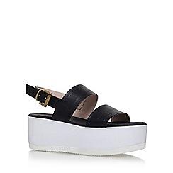 Carvela - Black 'Krown' high heel wedge sandal