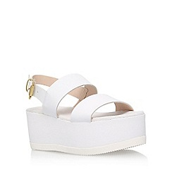 Carvela - White 'Krown' high heel wedge sandal