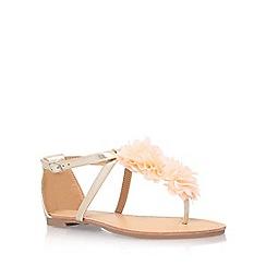 Miss KG - Gold 'Rae' low heel sandal