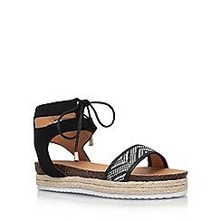 Miss KG - Black 'Peony' flat sandals