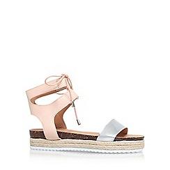 Miss KG - Natural 'Peony' flat sandals