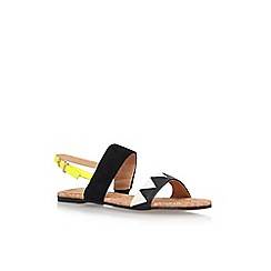 Miss KG - Black 'Rochanna 2' Flat Sandals