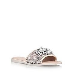 Miss KG - Silver 'Rebecca 2' flat sandals