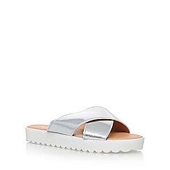 Miss KG - Silver 'Deion' flat sandals