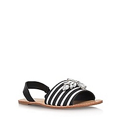 Miss KG - Black 'Robin' flat sandals