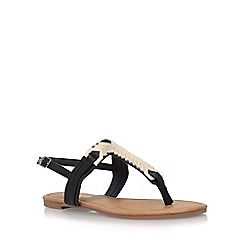 Miss KG - Black 'Jennifer 2' flat sandals