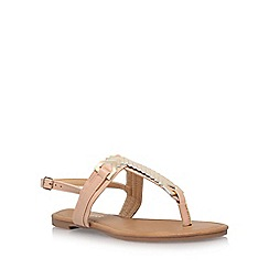 Miss KG - Brown 'Jennifer 2' low heel sandals